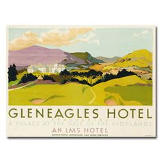 Shop for Unknown 'Gleneagles Hotel LMS' Canvas Art. Get free delivery at…