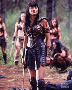 Lucy Lawless as Xena, Warrior Princess (SyFy Fantasy Tv, Fantasy Warrior, Princess Videos, Amazon Girl, Kevin Sorbo, Xena Warrior Princess, Cinema, Star Pictures, Hercules