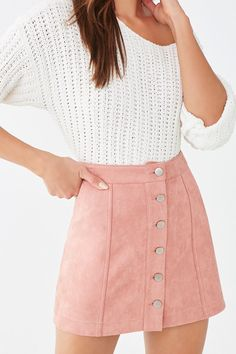Cute Skirt Outfits, Cute Comfy Outfits, Cute Skirts, Girly Outfits, Mini Skirts, Teen Skirts Outfits, Sweater Skirt Outfit, Fall Skirts, Casual Dresses