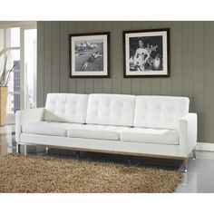 Genuine Leather Modern Loft Sofa - Overstock™ Shopping - Great Deals on Modway Sofas & Loveseats