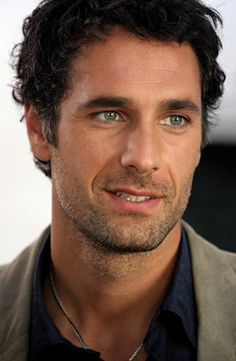 Italian actor Raoul Bova. In my mind he is the lovely Marcello, the hot guy who brings me a gelato and rubs my feet after a long day of sightseeing... Sigh.