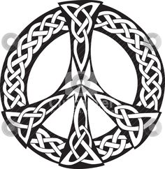 peace sign template printable | Celtic Design - Peace symbol stock vector clipart, An illustration of ...