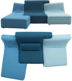 customize-able sectional sofa that looks like a puzzle