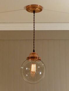 Copper light fixture from Vintage Copper (Etsy) Decor, Copper Fixture, Bathroom Lighting, Lighting, Lighting Design, Light Fixtures, Home Lighting, Copper Lighting, Lights