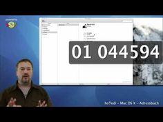 Mac OS X Adressbuch - Einsteigertutorial