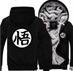 b90e567ddcb 2017 new fashion autumn winter men jacket Dragon Ball Z Baseball Son Goku  Costumes Anime Halloween Thicken Sweatshirt Goku Hoody
