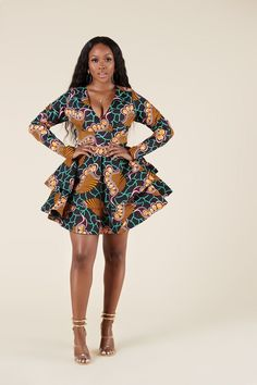 African Print Annaka Dress - Women's style: Patterns of sustainability African Print Clothing, African Print Dresses, African Print Fashion, African Fashion Dresses, African Dress, Classy Chic, Designer Dresses, Dress Up, Mini Dresses