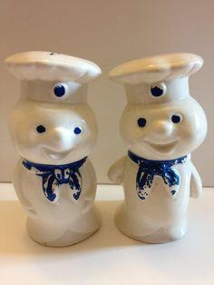 Vintage Pillsbury Doughboy Salt and Pepper by Nettastreasures, $6.00