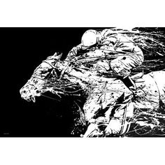 """Maxwell Dickson 'The Race' Horse Graphic Art on Wrapped Canvas Size: 24"""" H x 36"""" W x 1.5"""" D"""