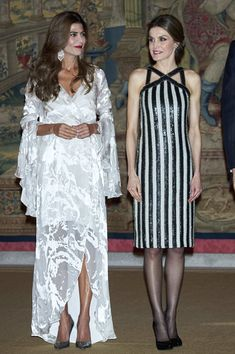 Queen Letizia of Spain Photos Photos - Argentina's President Mauricio Macri and wife Juliana Awada (L) offer a reception in honour of King Felipe of Spain and Queen Letizia of Spain (R) at El Pardo Palace on February 23, 2017 in Madrid, Spain. - Argentina's President and His Wife Host a Reception for Spanish Royals