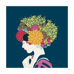 I'd rather wear flowers Wall Art Prints by Aspacia Kusulas | Minted
