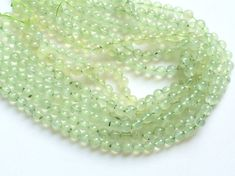 Prehnite Beads Natural Prehnite Smooth Round by gemsforjewels