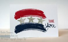 Patriotic Thank You Card with the Work of Art stamp set from Stampin' Up!