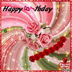 See the PicMix Happy birthday annimated - gif belonging to dholna on PicMix. Birthday Gif For Her, Happy Birthday Gif Images, Happy Birthday Hearts, Happy Birthday Wishes For A Friend, Happy Birthday For Him, Happy Birthday Greetings, Happy 40th, 40th Birthday, Creations