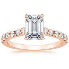 14K Rose Gold Anthology Diamond Ring (1/3 ct. tw.), top view