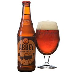 New Belgium Abbey Belgian Style Ale: Translucent nutty brown color with gorgeous white foamy head. Smells like bubble gum and fruit. Has a similar taste with added sugary flavor complimented with robust maltiness. Mouthfeel is simple, medium carbonation. Quite tasty. 7/10. My fave. of this beer
