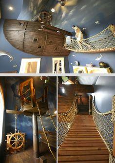 Pirate Ship Bedroom #Crazy #Interior #Design