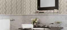 Looking for the perfect accent for your bathroom? Take a look at the modern bathroom wallpaper from the collection Bath Bath Bath IV from Brewster Wallcovering. Modern Wallpaper Designs, Designer Wallpaper, Bathroom Wallpaper, Modern Bathroom, Decor, Style, Swag, Funky Bathroom, Decoration