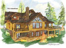 Log Home Plan: Wenatchee