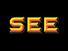 (SEE by Tim Frame) This logotype features a unique geometric style with bright 70s colors. The boldness is both represented through the letter thickness and color. Repetition is used to further the bright patterns and curved tails at the ends of letters. Overall, the crazy hues and 3D look make this logotype a memorable one.