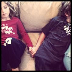 5 minutes of hand-holding for sibling conflict. If you disrespect your sibling? 5 minutes of hand-holding. If you raise your voice to your sibling? 5 minutes of hand-holding. If you make fun of your sibling? 5 minutes of hand-holding. Love this idea!