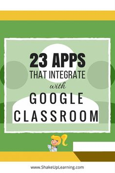23 Awesome Apps that Integrate with Google Classroom: Did you know that Google Classroom plays well with others? Yep! Google is known for making their applications open to working with third-party applications, and Google Classroom is no exception. Are you using Google Classroom? I have put together a list of 23 Apps that Integrate with Google Classroom, making it even easier to create lessons and announcements with your favorite apps and resources.