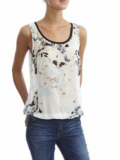 JICKS SAMA S/L TOP - #VILAClothes #VILA #Clothes #Fashion #Style #Beauty #flower #top