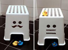 """DIY decoration for """"Bolmen"""" stool från Ikea, by blogger Med et lekent sinn"""