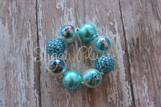 Frozen Inspired chunky beaded bracelet by SugarPlumGoodies on Etsy Great Easter basket gift!!