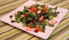 Mexican Chopped Salad with Honey Lime Vinaigrette