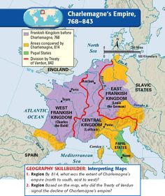 Charlemagne's Empire, 768-843