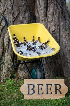 If creating your bar isn't your thing, grab a wheelbarrow, some ice, your favourite beer and Tah Dah! oh sounds fab