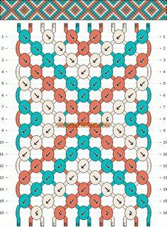 Normal Friendship Bracelet Pattern #11433 - BraceletBook.com