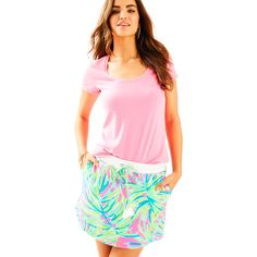 Lilly Pulitzer Lilly Pulitzer Zia Skirt ($68) ❤ liked on Polyvore featuring skirts, lilly pulitzer skirt, pull on skirts, beach skirt, pink skirt and lilly pulitzer