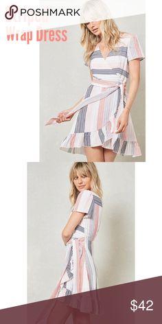 b14f01a0dafd PREORDER - Striped Surplice Dress 💕 PREORDER Listing - once I get interest  I will