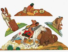 vintage native american paper doll playset…and other paper toys