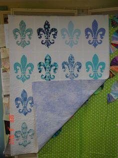 Fleur de lis quilt idea for Dawn | Quilting | Pinterest | Dawn ... : fleur de lis quilt pattern - Adamdwight.com