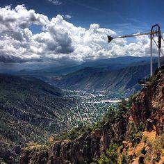 Awesome shot of the Giant Canyon Swing at Glenwood Caverns from @marisab33. #glenwoodsprings #colorado #summerfun www.visitglenwood.com