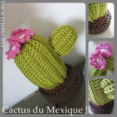 Rigolo cactus en tricot pour une entrée colorée.