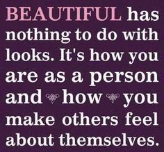 Inner beauty is true beauty