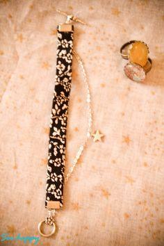 Bracelet Liberty - Noir et Blanc très classe : Bracelet par soo-happy