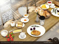 German Breakfast Set for The Sims 4
