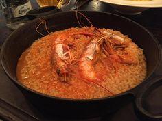 Arroz con cigalas, en Cornelia & Co, un restaurante y tienda gourmet de Barcelona