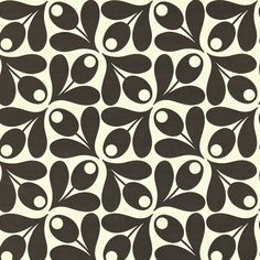 Orla Kiely: Orla Kiely Small Acorn Cup print wallpaper. Hanging instructions on packaging.         Repeat: 17.7cm        Width: 52cm    Length: 10.05m        Batch #AA        **Please note that wallpaper is non refundable once opened, or hung on the wall.