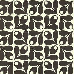 Small Acorn Cup Wallpaper in Ebony by Orla Kiely