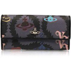 Vivienne Westwood Squiggle Logomania 32225 Long Purse | GarmentQuarter