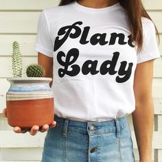 Plant lady tee by @ouifresh