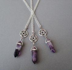 pagan . wicca - goth - boho - grunge - amethyst - alternative fashion - nu goth
