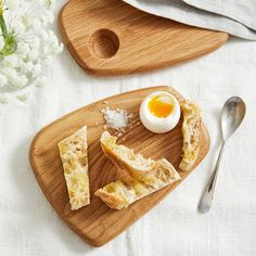 Egg and Soldiers Board – Set of 2 | Tableware | The White Company UK