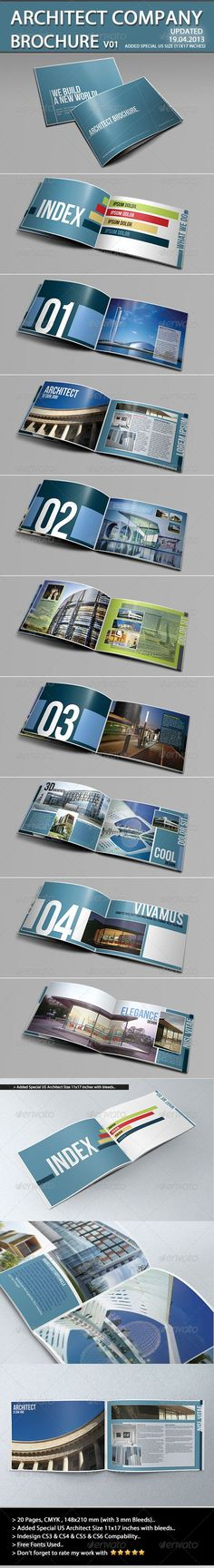 Architecture Brochure Template - Portfolio Brochures. If you like UX, design, or design thinking, check out theuxblog.com
